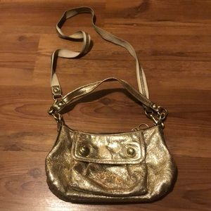 Coach Gold Groovy Crossbody Bag Purse 13850